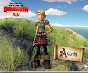 Astrid Hofferson, einer jungen Wikinger überraschend, energetische und wettbewerbsfähige puzzle