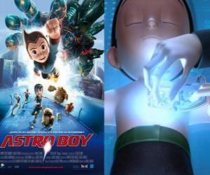 AstroBoy oder Astro Boy, ein Super-Roboter von Dr. Tenma in das Bild seines toten Sohnes Toby und seine Erinnerungen geschaffen puzzle