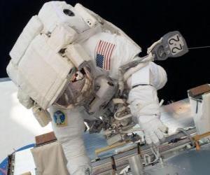 Astronaut im Weltraum puzzle