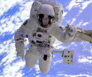 Astronaut Weltraum-mission puzzle