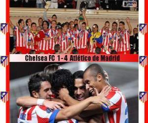 Atlético de Madrid champion 2012 UEFA-Superpokal puzzle