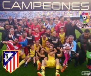 Atlético Madrid, Champion der spanische Fußball-Liga 2013-2014 puzzle