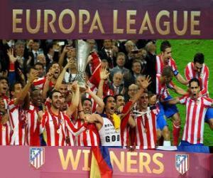 Atlético Madrid, Meister der UEFA Europa League 2011-2012 puzzle