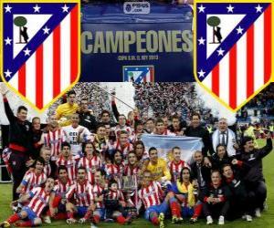 Atletico Madrid Meister Copa del Rey-2012-2013 puzzle