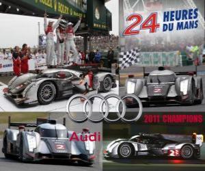 Audi R18 TDI 24 Stunden von Le Mans Meister 2011 puzzle