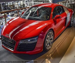Audi R8 rot puzzle