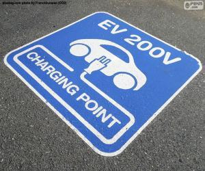 Aufladen von Elektroautos puzzle