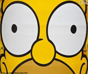Augen von Homer Simpson puzzle