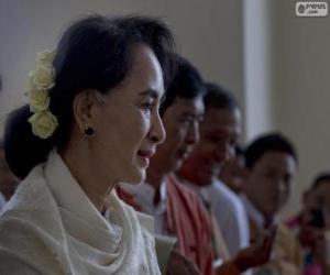 Aung San Suu Kyi politische und aktivistische Burmesen puzzle