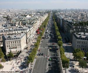 Avenue des Champs-Elysée, Paris puzzle