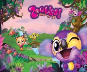 Azoozia der Heimat der Zoobles-Zootiere puzzle