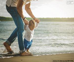 Baby an der Küste puzzle