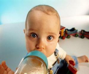 Baby das sein babyflasche puzzle