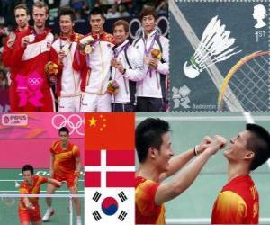 Badminton-Herren Doppel London 2012 puzzle