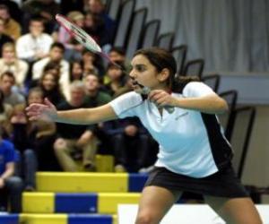 Badmintonspieler puzzle