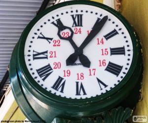 Bahnhof-Uhr puzzle
