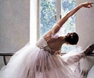 Ballerina üben mit der bar puzzle