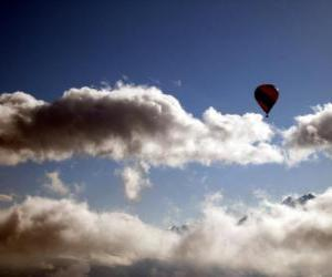 Ballon in den Wolken puzzle