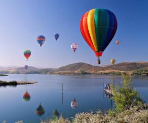 Ballon in der Landschaft puzzle