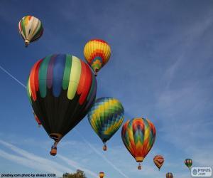 Ballons in der Luft puzzle