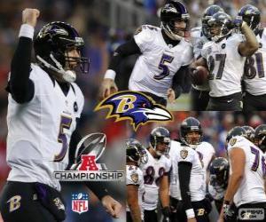 Baltimore Ravens den 2012 AFC champion puzzle