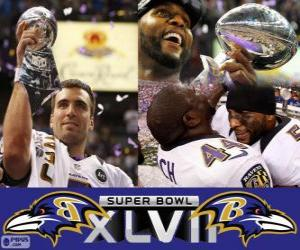 Baltimore Ravens Super Bowl 2013 Meister puzzle