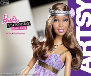 Barbie Fashionista Artsy puzzle
