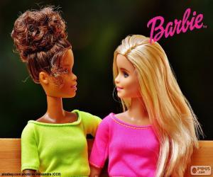 Barbie mit ihrer Freundin puzzle