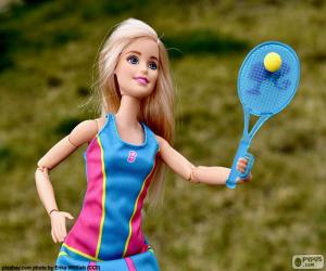 Barbie spielen tennis puzzle