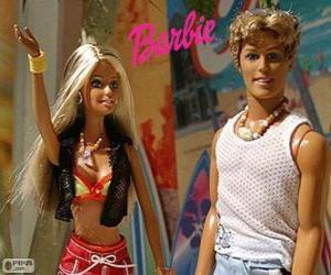 Barbie und Ken im Sommer puzzle