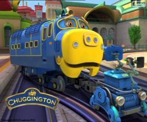 Bastian, starke Diesel-elektrische Lokomotive von Chuggington puzzle