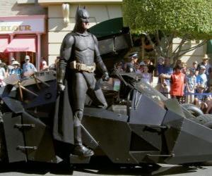Batman in seinem Batmobil puzzle