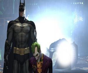 Batman verhaftet seinen Feind, den Joker puzzle