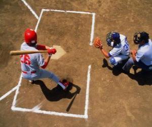 Batter und catcher bereit puzzle