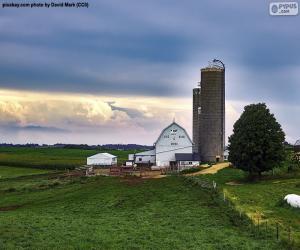 Bauernhof Wisconsin, Vereinigte Staaten von Amerika puzzle