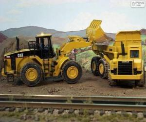 Baufahrzeuge arbeiten puzzle