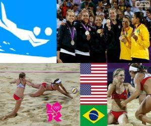 Beachvolleyball damen London 2012 puzzle