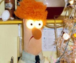 Beaker ein Experiment im Labor von den Muppets puzzle