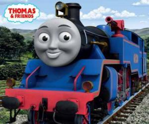 Belle hat die große und mutige blaue Lok zwei Wasserwerfer zum Löschen von Bränden puzzle