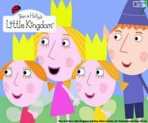 Ben und Holly mit Daisy und Poppy puzzle