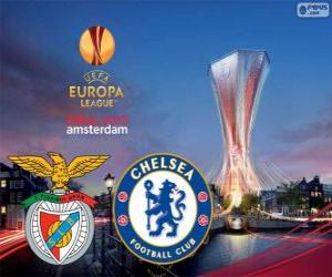 Benfica Vs Chelsea. Europa-League 2012-2013-Finale in der Amsterdam Arena, Niederlande puzzle