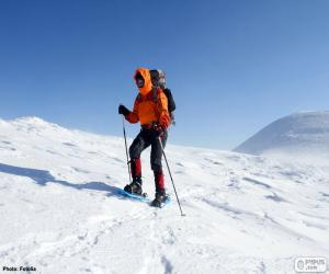 Bergsteiger in einer Reise puzzle