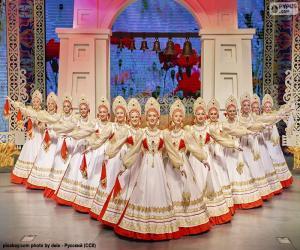Beriozka, klassischer russischer Tanz puzzle