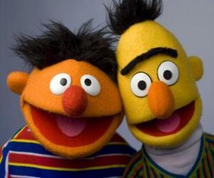 Bert und Ernie, zwei gute Freunde puzzle