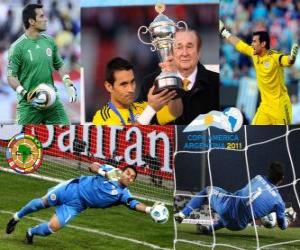 Bester Torwart Justo Villar Copa America 2011 puzzle