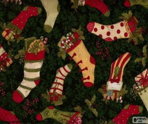 Bild von Weihnachten Strümpfe und Stiefel puzzle