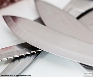 Blätter von Küchenmesser puzzle