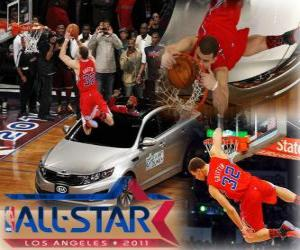 Blake Griffin ist der neue König der 2011 NBA Slam Dunk puzzle