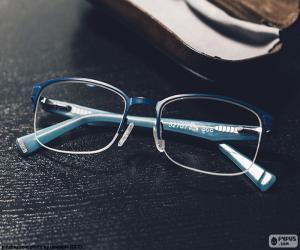 Blau brille puzzle