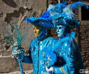 Blau-Kostüme puzzle